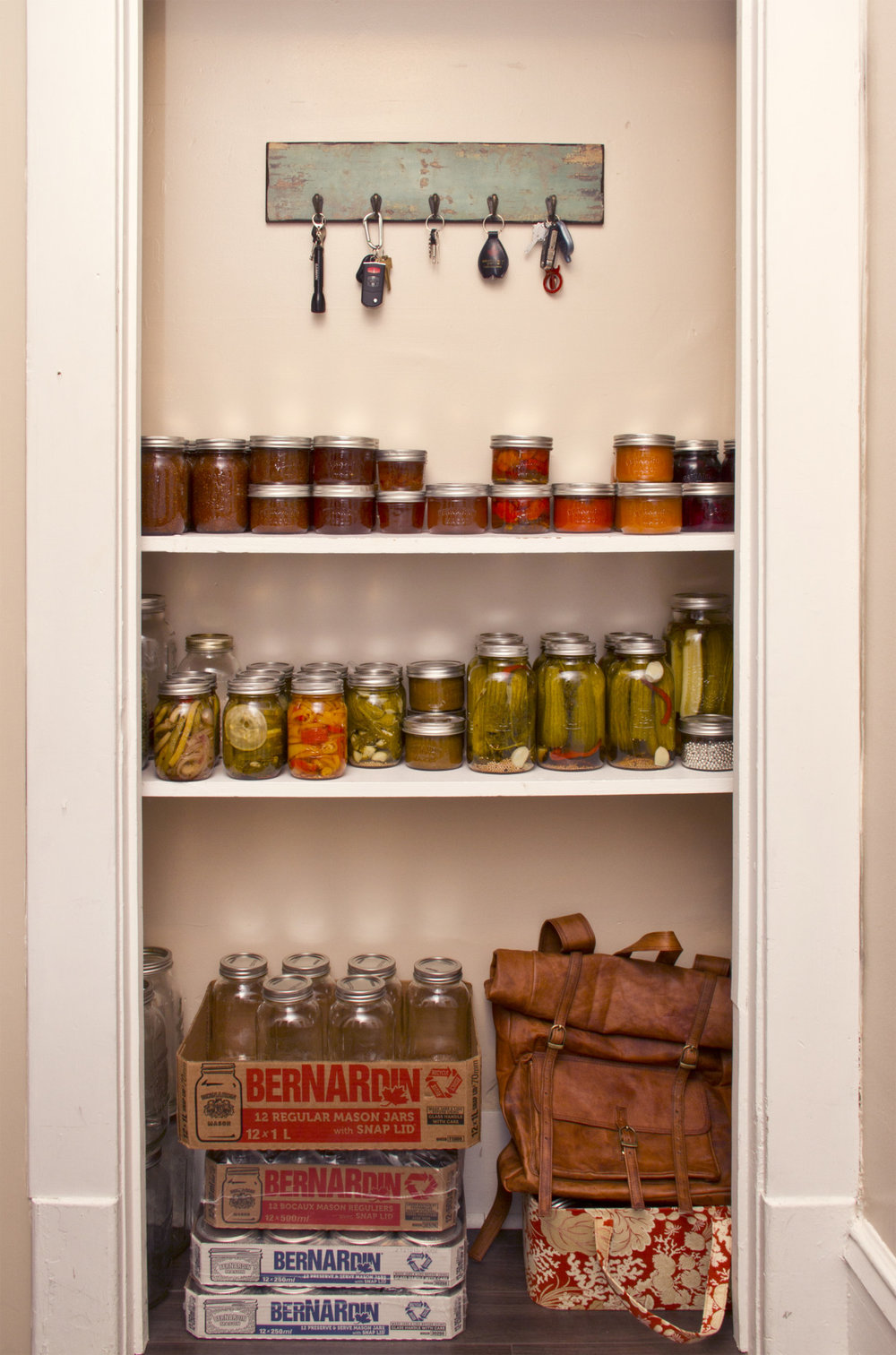 The canning cupboard.