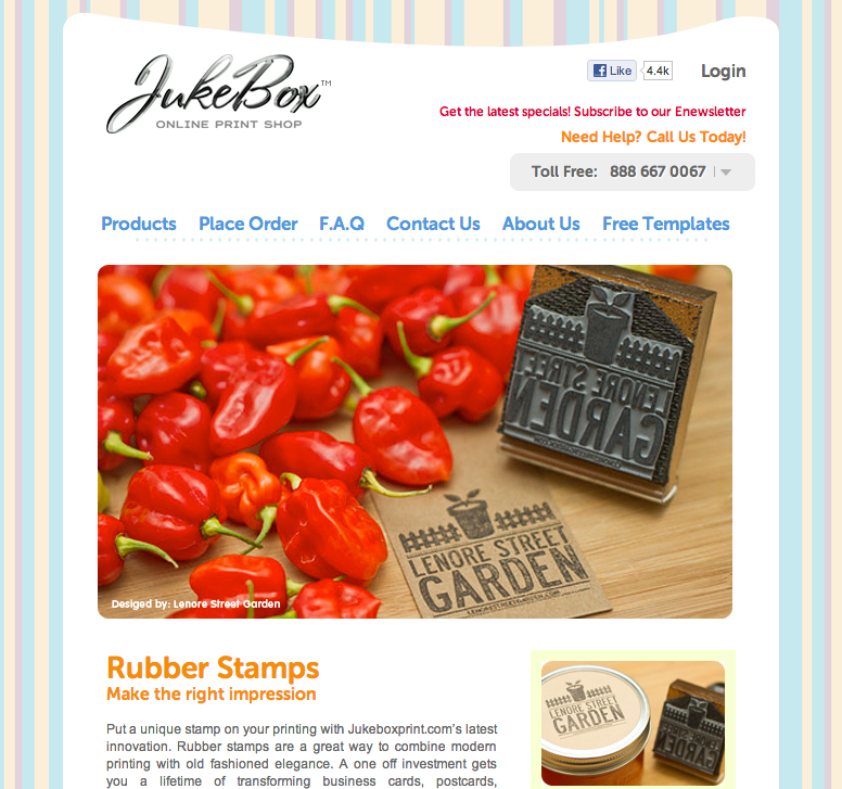 The Lenore Street Garden stamp got featured on Jukebox Print!  http://www.jukeboxprint.com/rubber_stamps.php