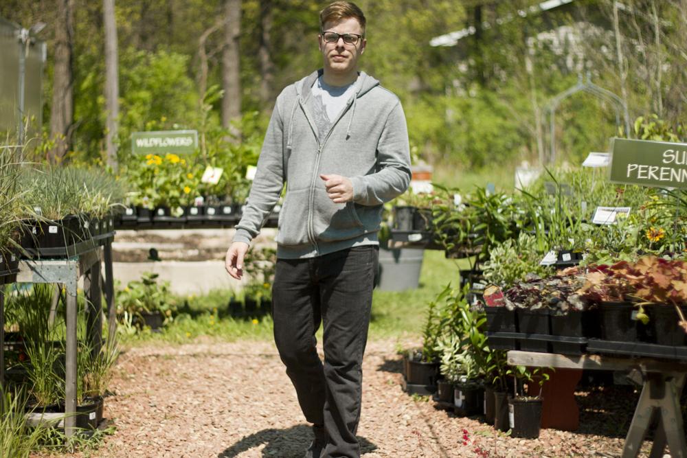 Kory the hipster gardener - at Sage Garden Herbs