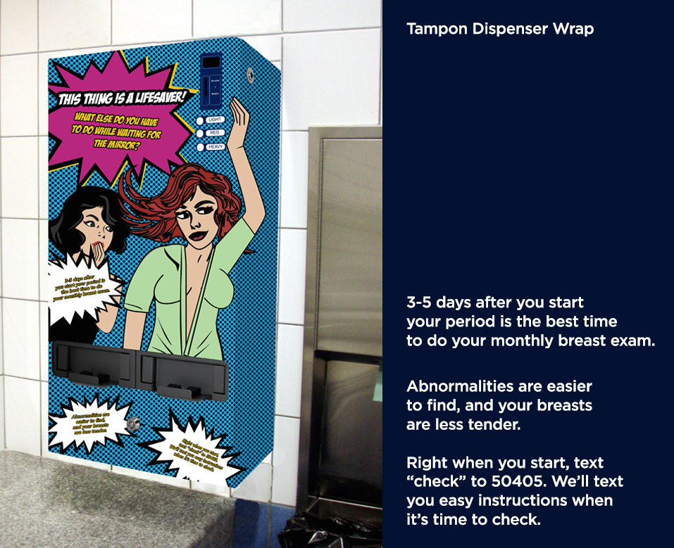 Restroom Tampon Dispenser Wrap