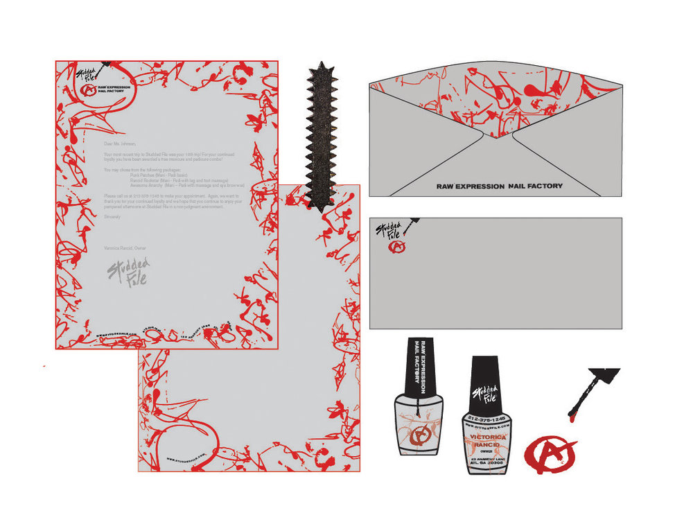 Identity Suite for a Punk Manicurist