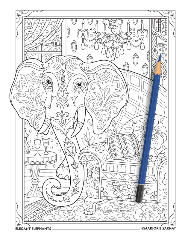 Elegant Elephants Marjorie Sarnat Design amp Illustration
