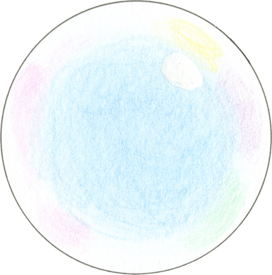 4) Add a highlight on the edge of the inner colored area. That's it! You've colored a bubble!