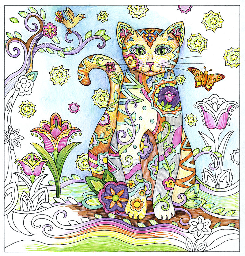 You Ve Just Completed A Beautiful Coloring Page Now What Marjorie Sarnat Design Illustration