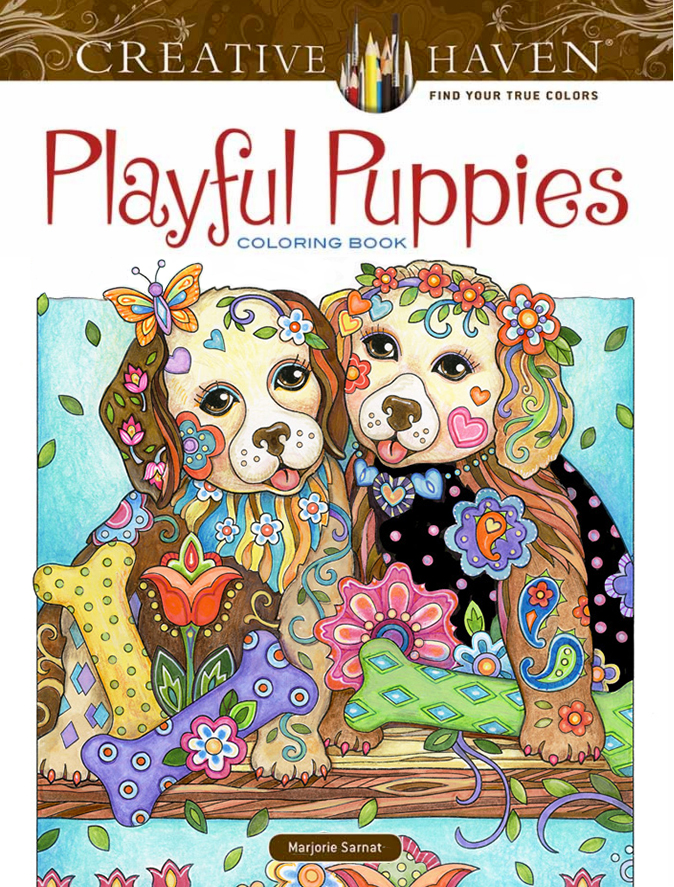 Playful Puppies Coloring Book