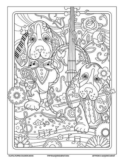 After You Click Submit On A Link Below To Download Complimentary Coloring Page From Playful Puppies
