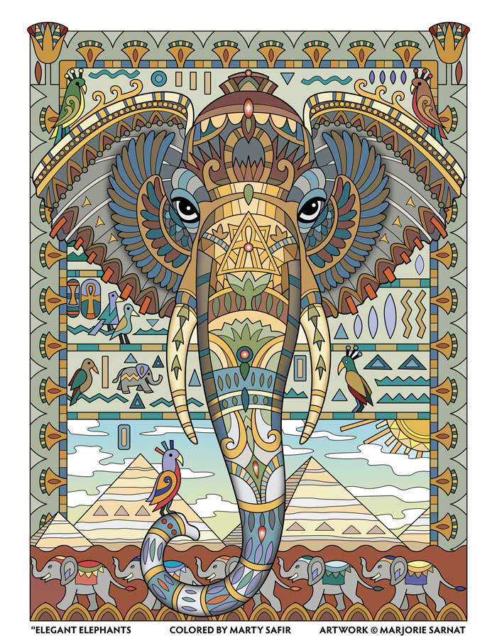 Egyptian Motif – Colored by Marty Safir