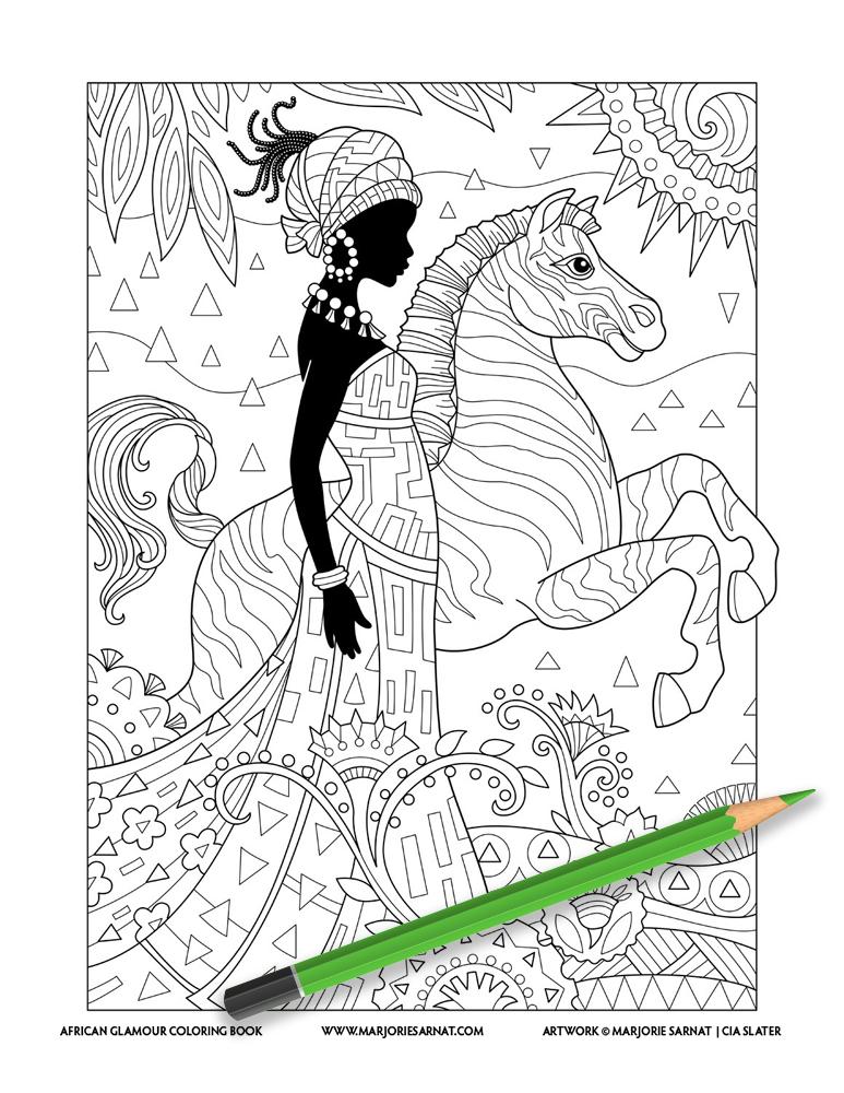 Lady with Zebra
