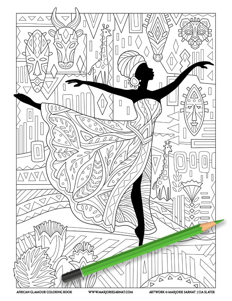 Woman Dancing in Arabesque