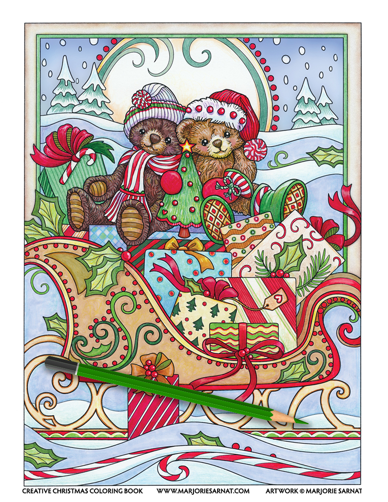 Teddies on a Sleigh