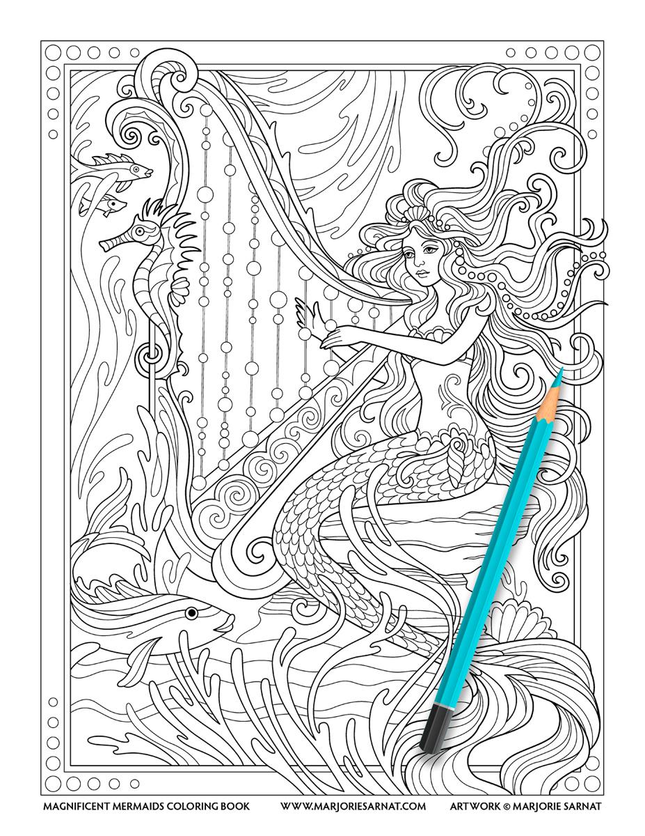 Mermaid and Harp