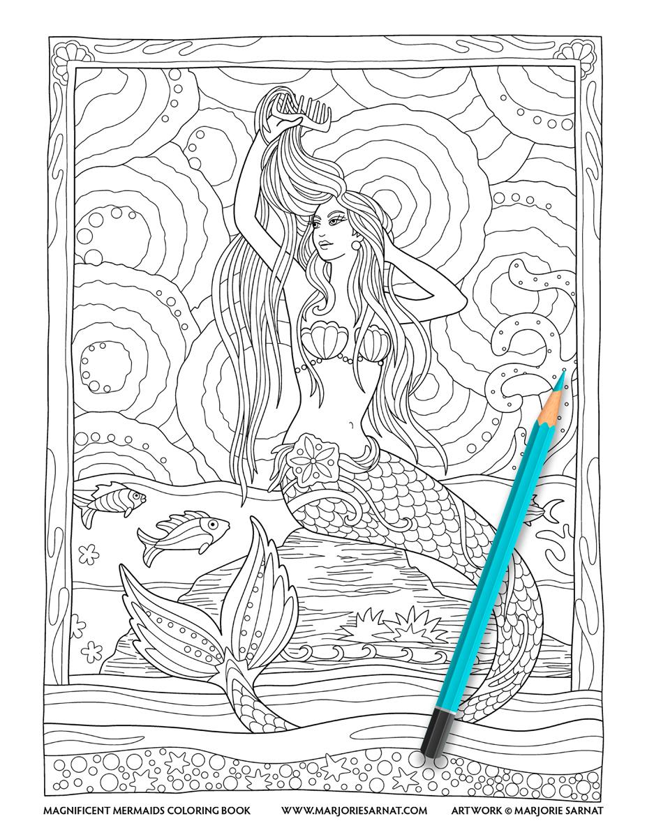 Mermaid Combing Hair