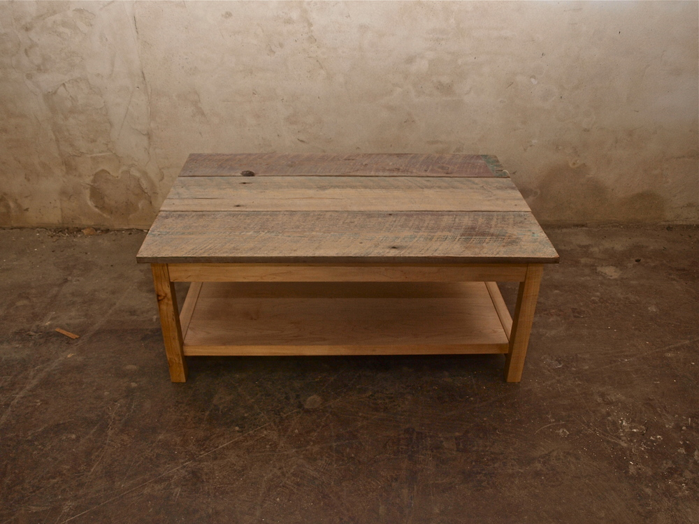 Reclaimed antique pine coffee table