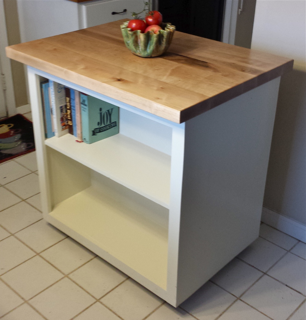 Maple kitchen cart