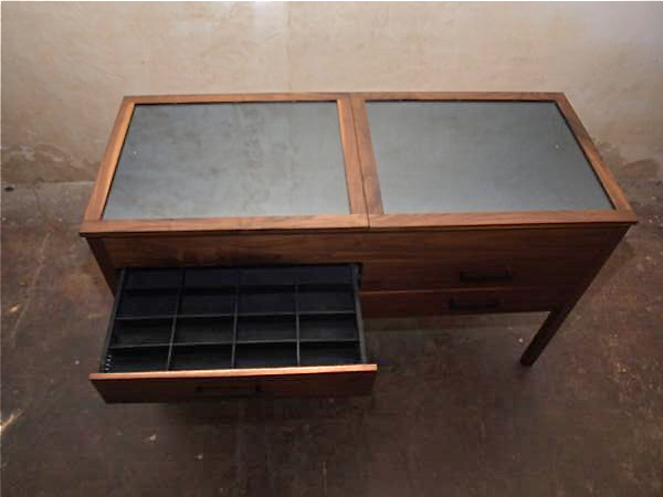 Walnut display case