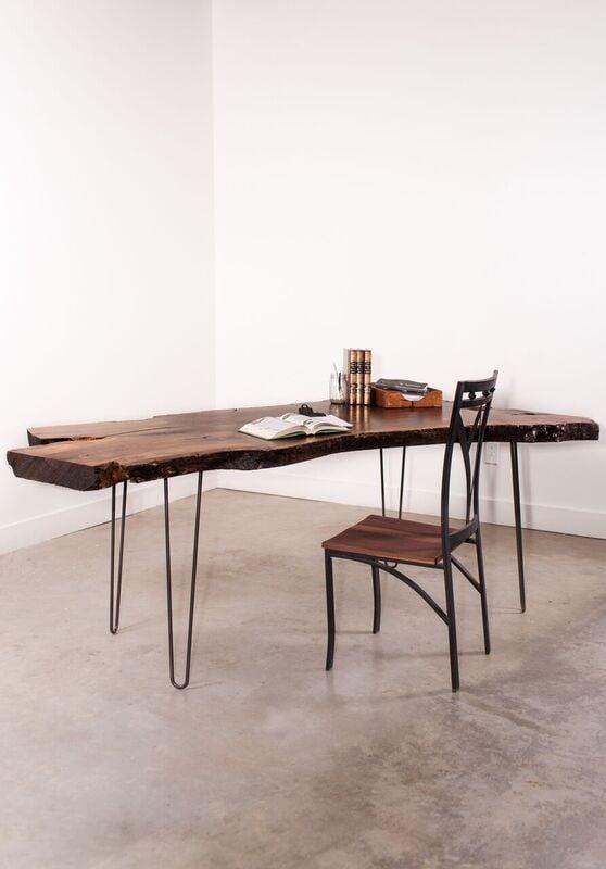 Walnut Slab Desk - The Fork