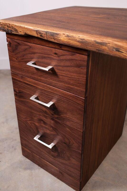 Walnut File Cabinet