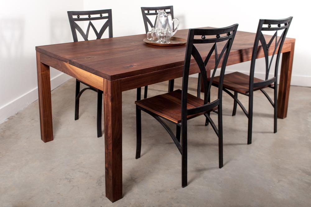 Contemporary Walnut Table