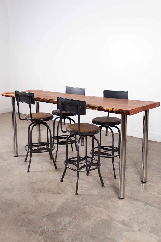 Cherry Slab High Top Table