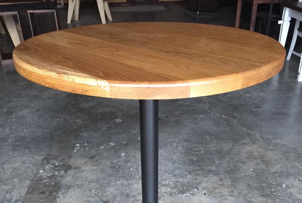 Aged White Oak Pub Table