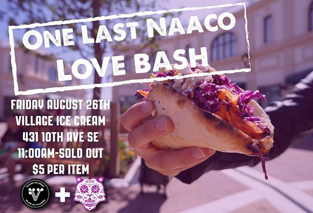 The time has come to get together one last time to spread some #NaacoLove #YYC 💃🏾 5 years ago our very first event was @villageicecream so we've partnered with our friends again to host our last event 👍🏾 Hope to see you all there 😘 #foodtruck #yycfood #naaco #food #villageicecream