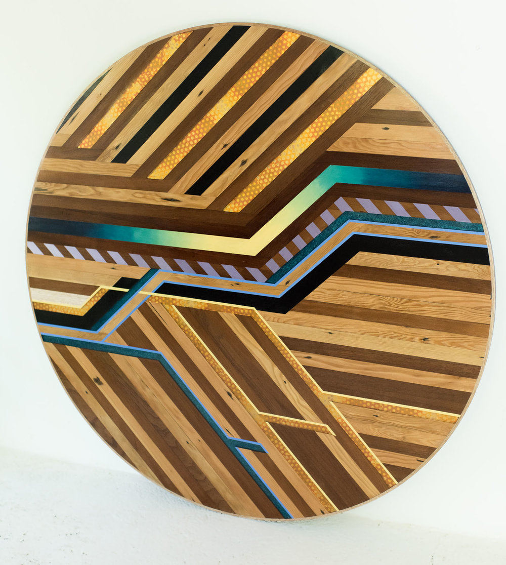 Close Up Of Megs Round Dining Table Top