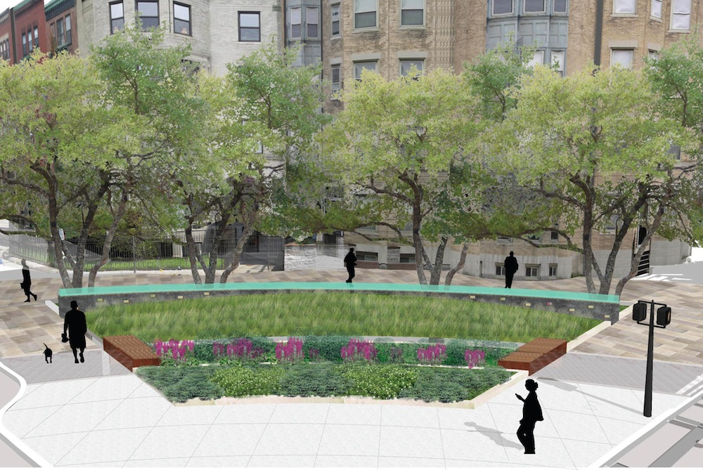An artists' rendition of the preliminary designs of Audubon Circle.