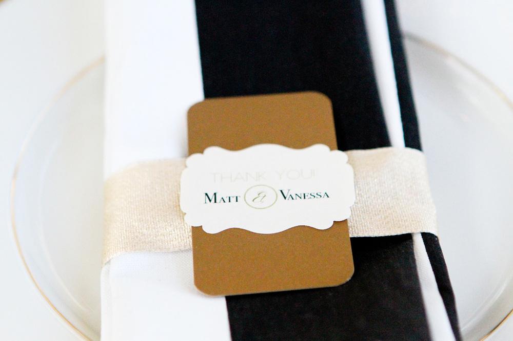 Elegant gold napkin wraps