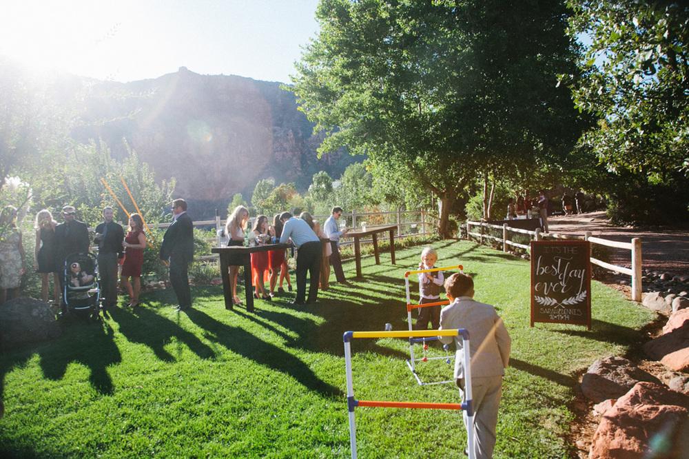 yard games wedding reception