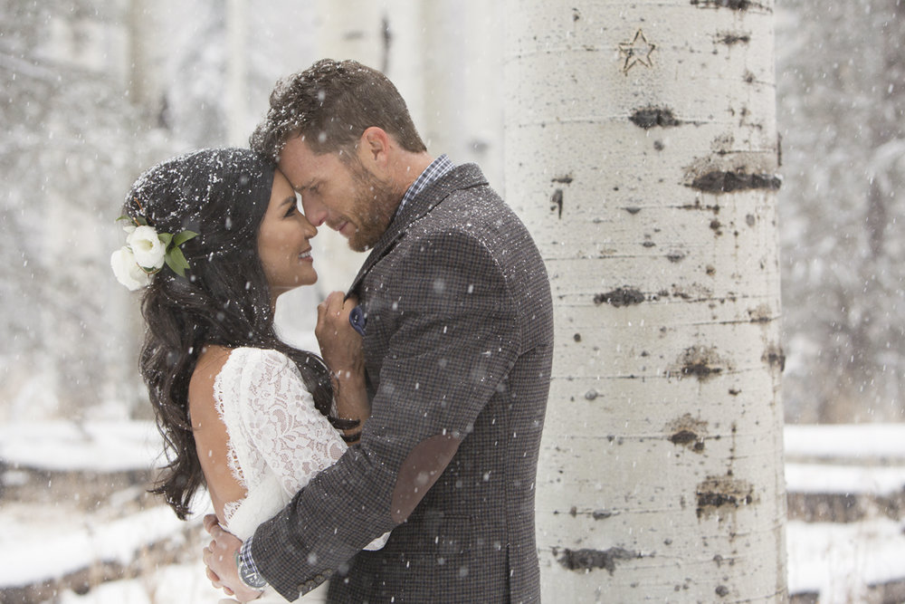 Vanessa + Matt's Intimate Winter Wedding - Pine Canyon Private ResidencePhotographer: Bending the Light