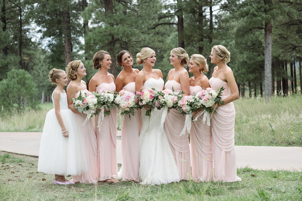 pale pink bridesmaid dresses
