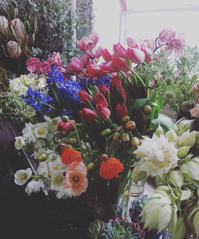 In the flower cave today. #brunswick #florist. Studio 12