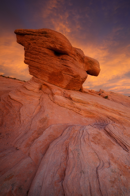 Hammerhead Rock - Rainbow Vista, Valley of Fire State Park, NV