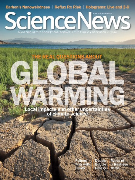 Featured on the front cover of Science News - December 2010