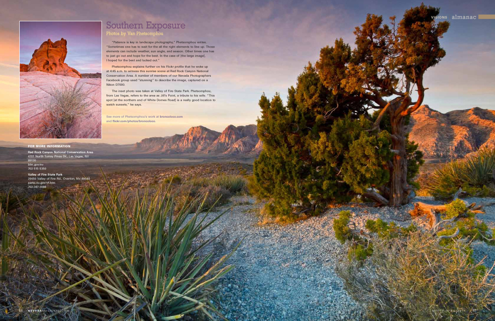 Featured in the centerfold of Nevada Magazine - March / April 2012