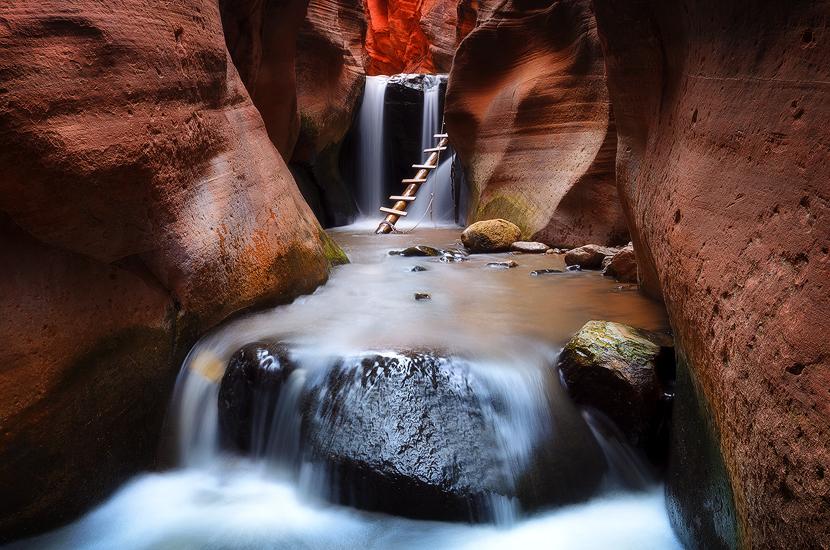 Enter the Chamber - Kanarraville Falls, Kanarraville, UT