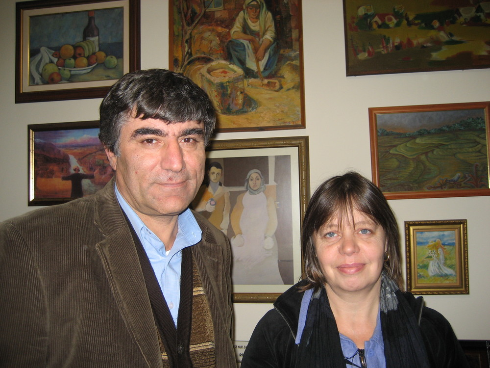 With Hrant Dink in his office in Istanbul in late November 2006, while he was under threat. He was murdered outside his office a few weeks later.