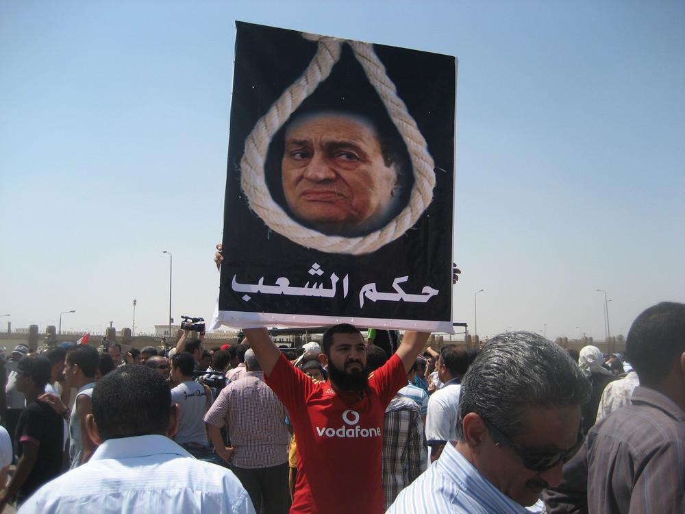 Utanför fängelset i Kairo där Mubarak satt häktad 2011. Foto: Bitte Hammargren