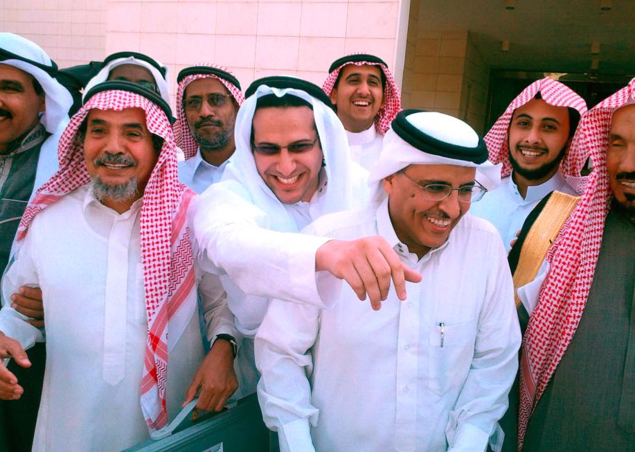 Tre fängslade försvarare av mänskliga rättigheter i Saudiarabien: Dr Abdullah al-Hamid, advokaten Waleed Abu al-Khair och dr Mohammed Fahad al-Qahtani.