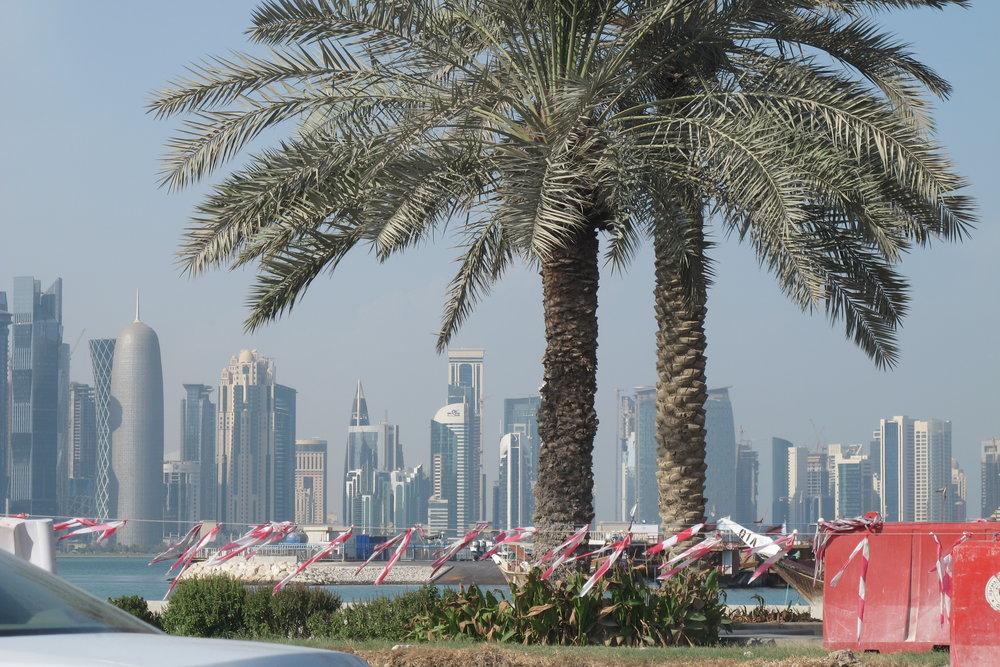 Skyline I Doha, Qatar. Foto: Bitte Hammargren
