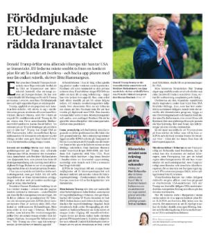 SvD Brännpunkt den 10 maj 2018.