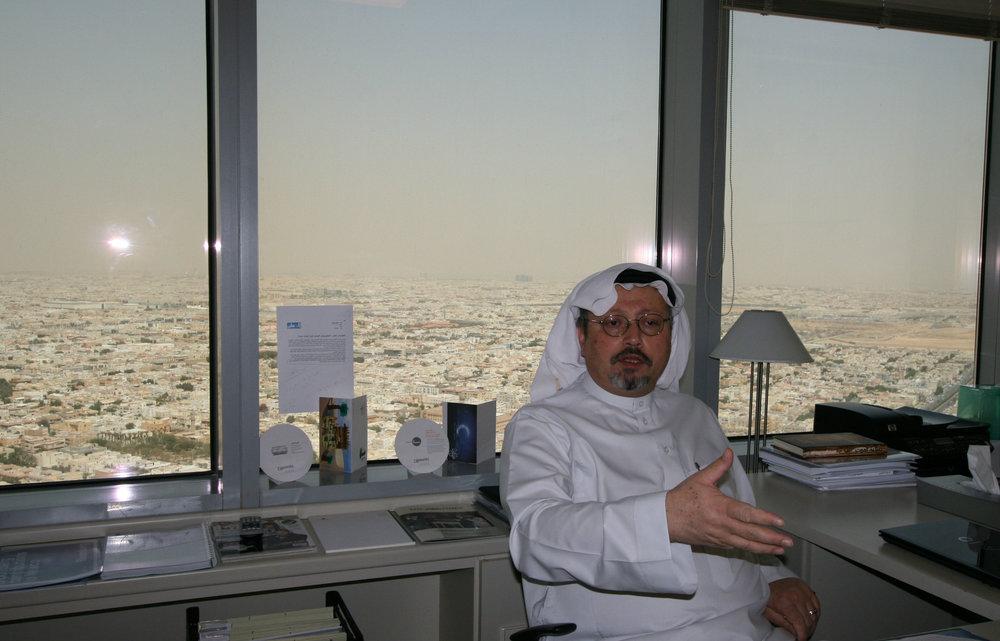 Jamal Khashoggi i Riyadh, mars 2011.  Foto: Per Luthander