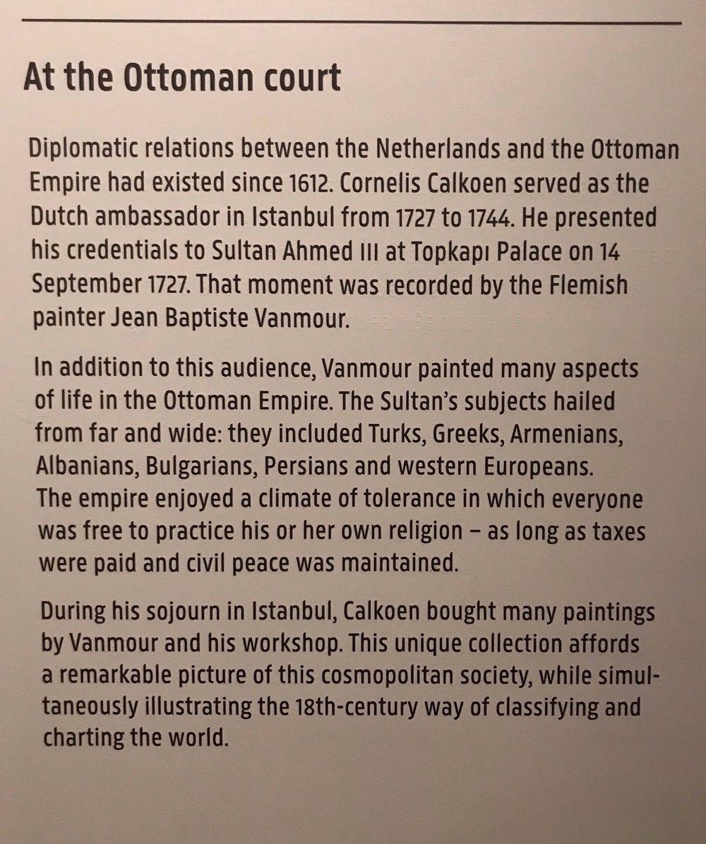 Från informationstavla på Rijksmuseum i Amsterdam.