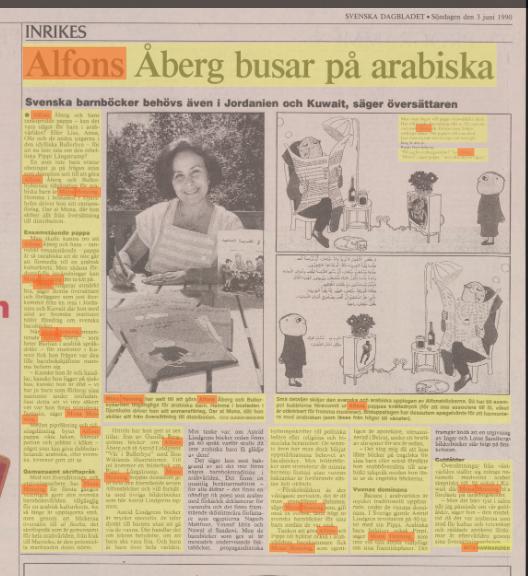 Första artikeln på svenska om Mona Henning, Svenska Dagbladet den 3 juni 1990.