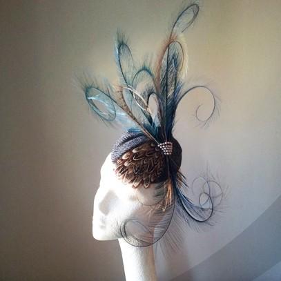 sassi bridal birdcage veil fascinator