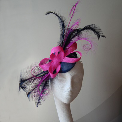 Deborah feather sinamay fascinator