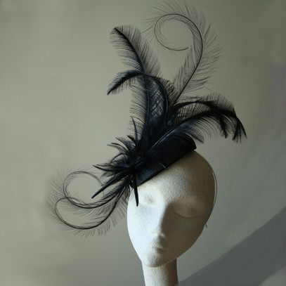 Hayley feather sinamay fascinator