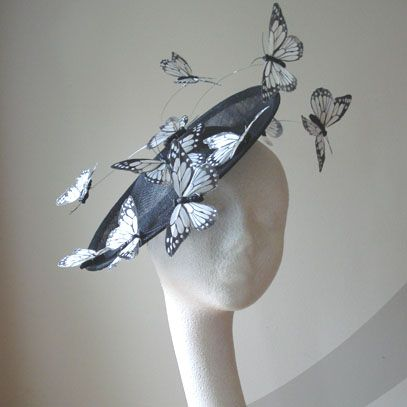 grand papillon saucer hat fascinator