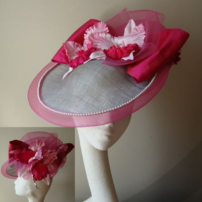 courtney saucer hat fascinator