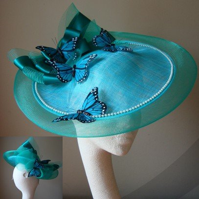 emma saucer hat fascinator